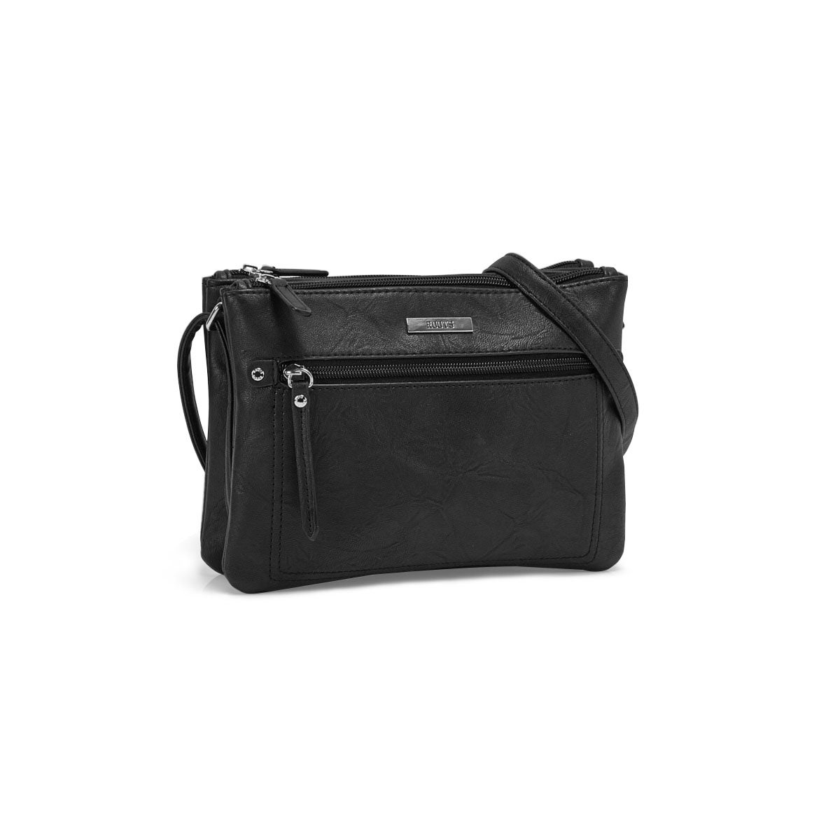 Lds Roots73 black 2 cmptmnt crossbody