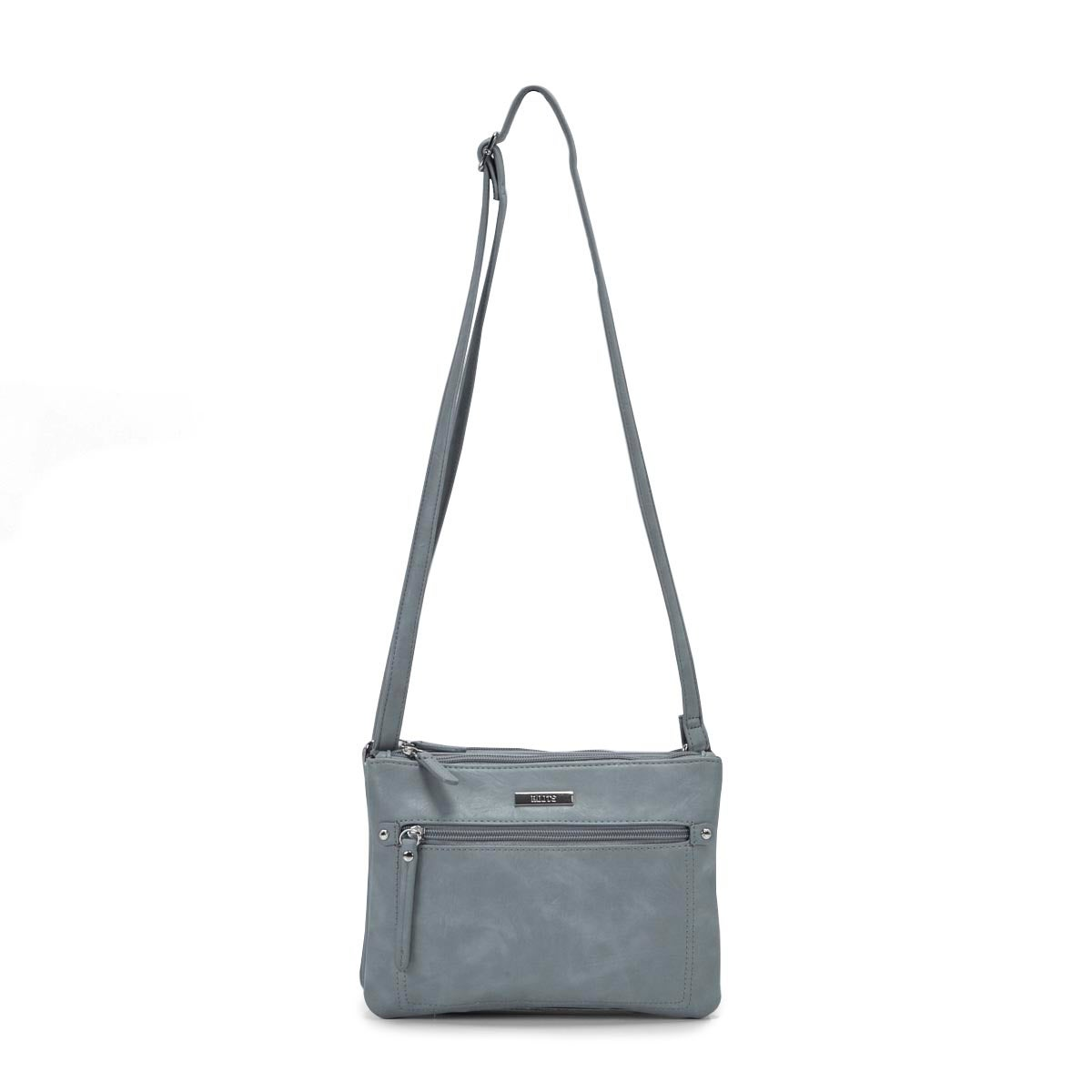 Lds Roots73 lt blu 2 cmptmnt crossbody