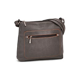 Roots Women's R5784 grey painted edge crossbody