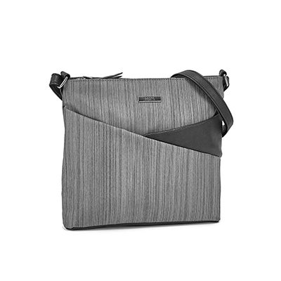 Roots Women's R5797 grey North/South crossbody bag