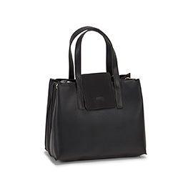 Roots Women's R5826 black flap cover satchel