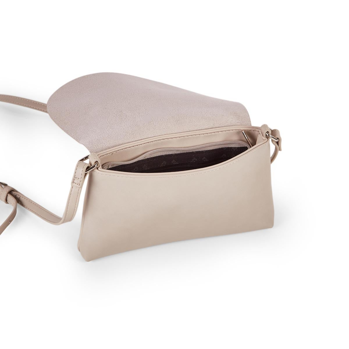 Lds Roots73 ivory front flap crossbody