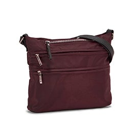 Roots Women's R5863 burgundy crossbody bag