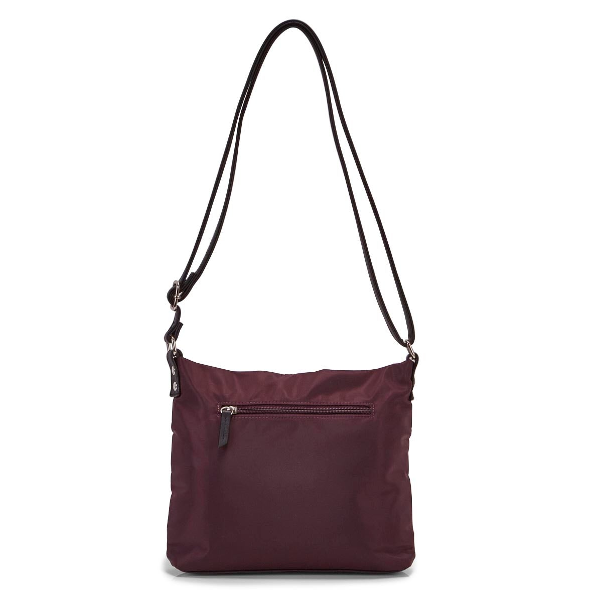 Lds Roots73 burgundy top zip crossbody