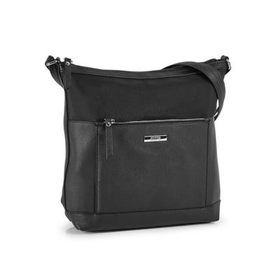 Roots Women's R5874 black painted edge crossbody bag