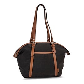 Roots Women's R5888 black round top shoulder bag