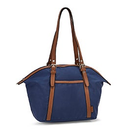 Roots Women's R5888 denim round top shoulder bag