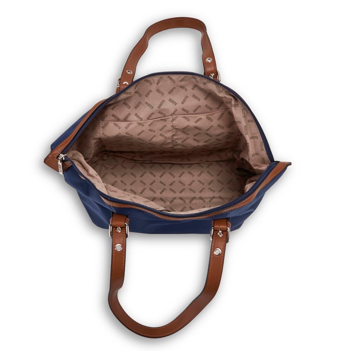Lds Roots73 denim round top shoulder bag