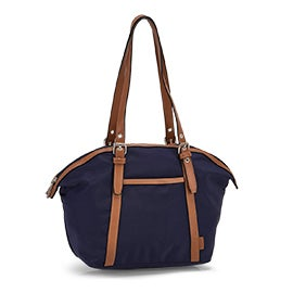 Roots Women's R5888 navy round top shoulder bag