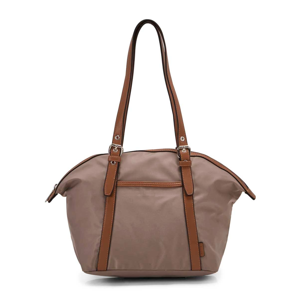 Lds Roots73 taupe round top shoulder bag
