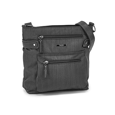 Lds Roots73 blk cross dye n/s crossbody