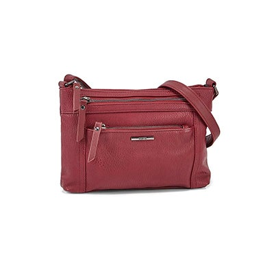 Roots Women's R5939 burgundy cross body bag