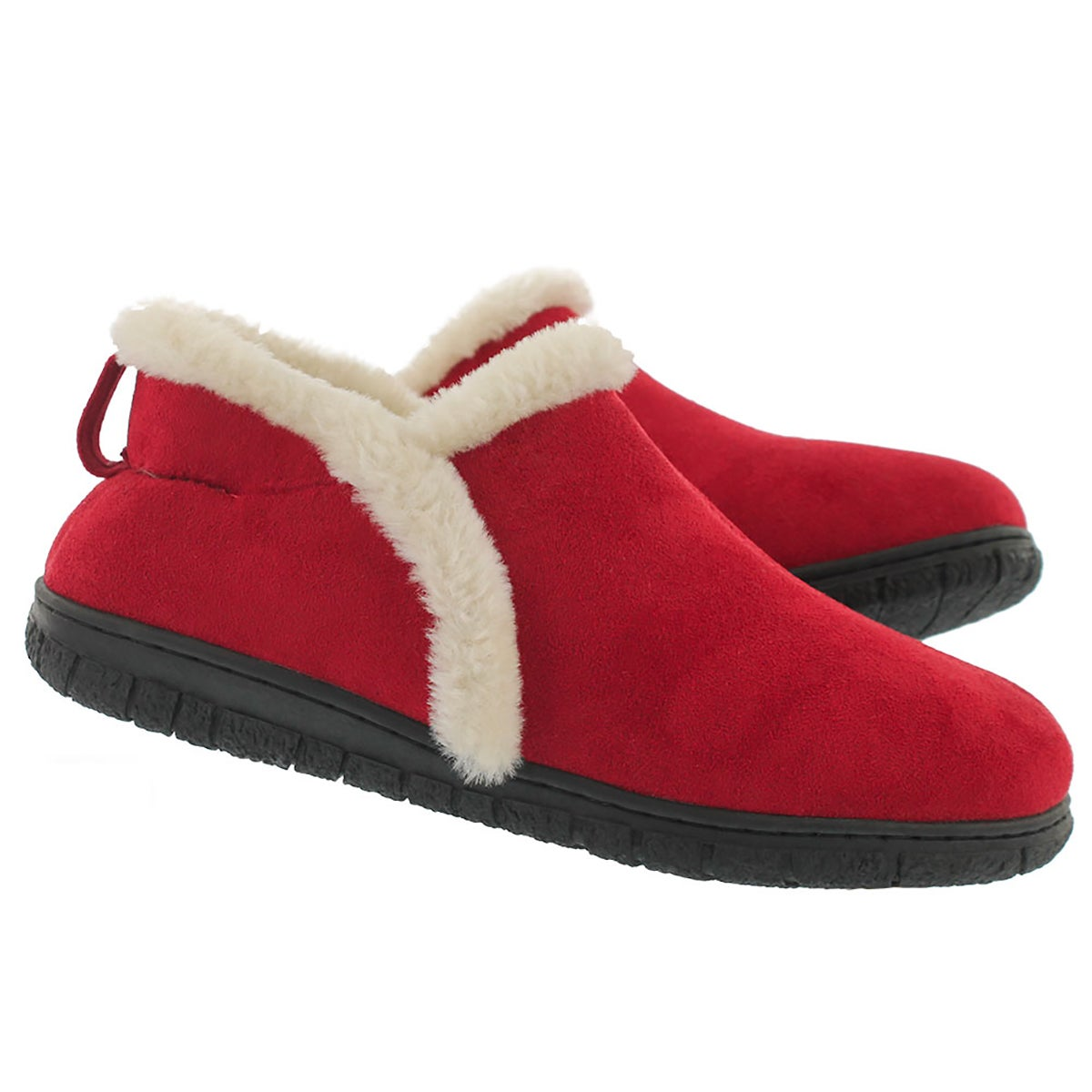 Lds Rachel red mem foam clsd bck slipper