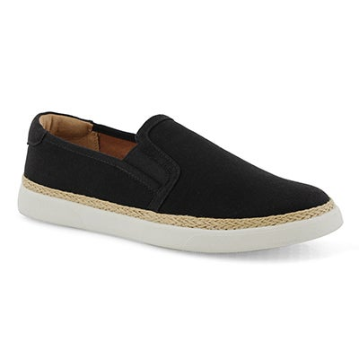 Lds Rae black/black casual slip on shoe