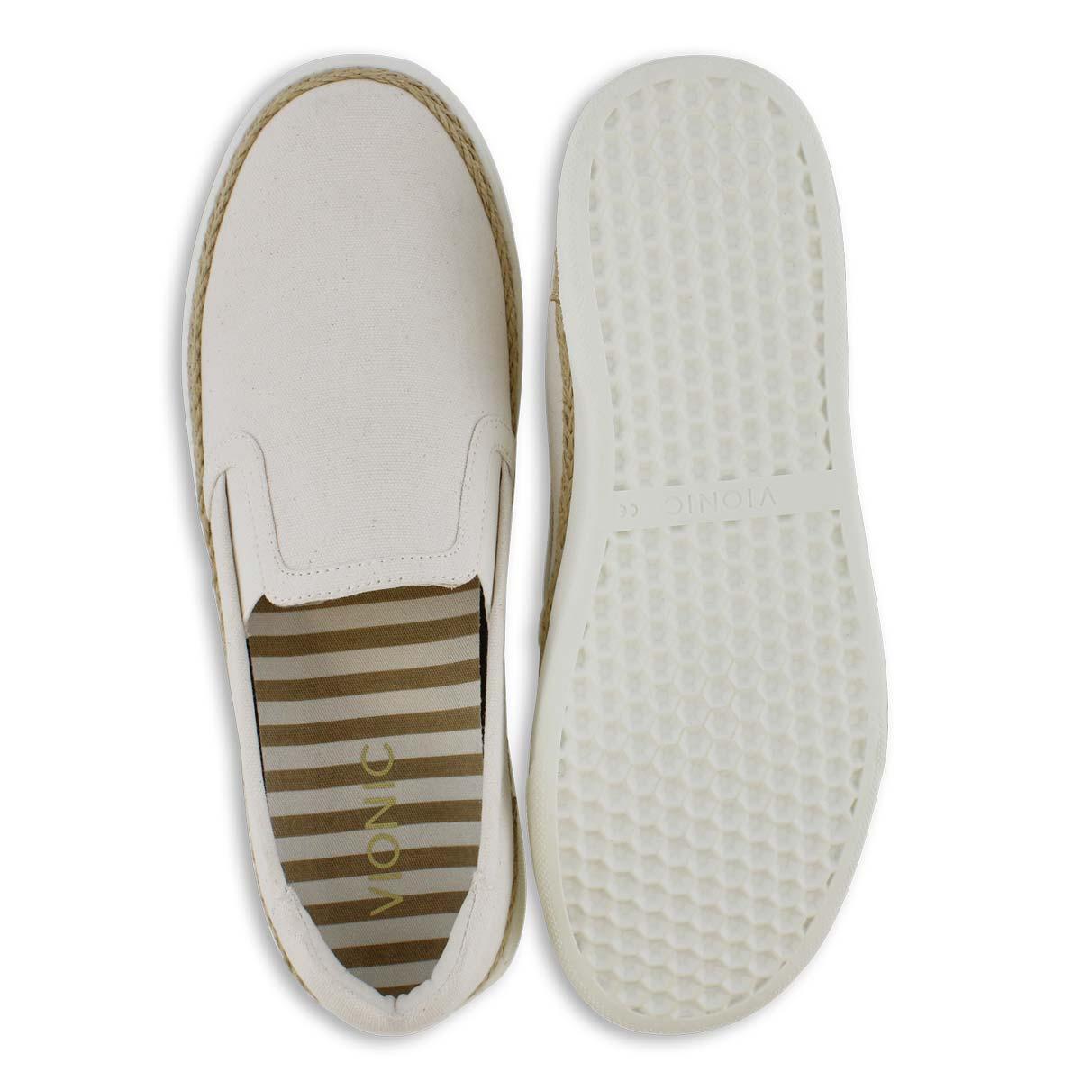 Lds Rae ivory casual slip on shoe