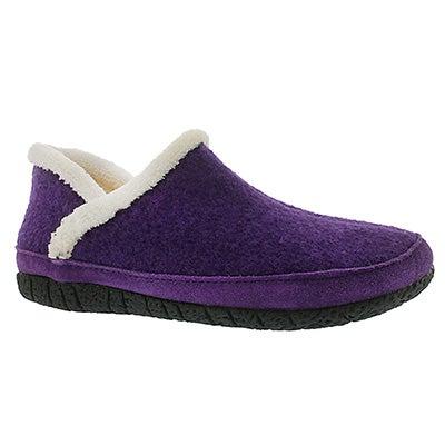 Foamtreads Women's RAGLAN purple micro suede slippers