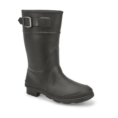 Kamik Boys' RAINDROPS black waterproof rain boots
