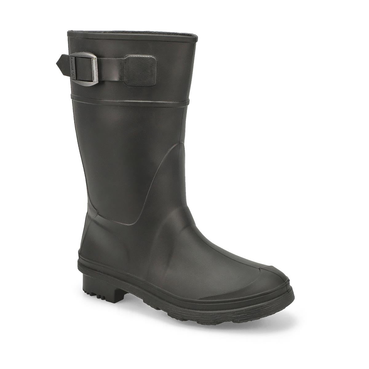 Boys' RAINDROPS black waterproof rain boots