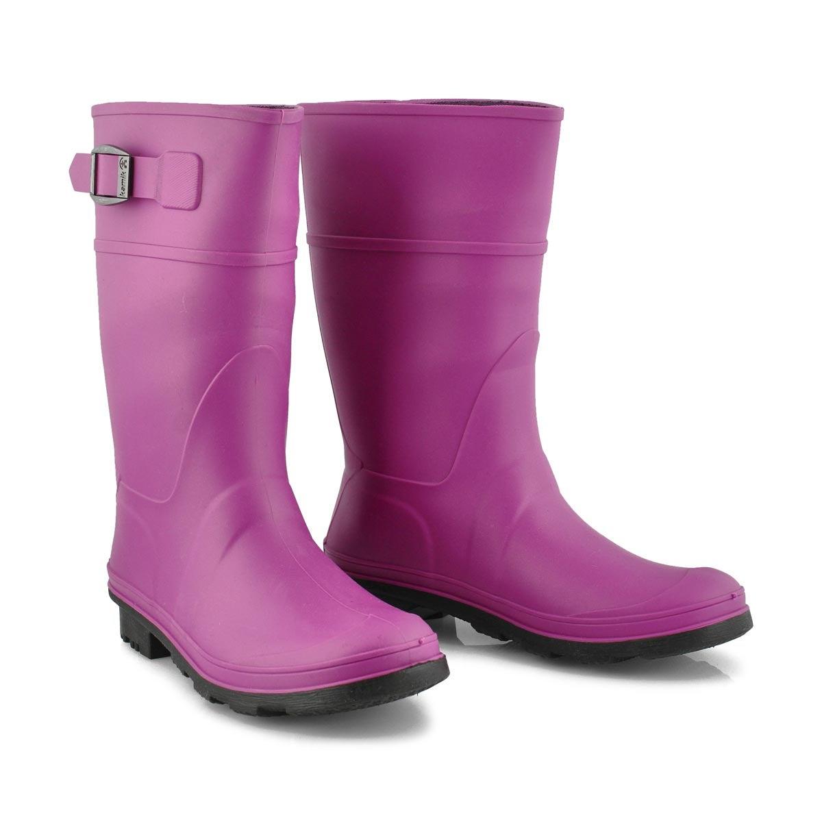 Bottes pluie Raindrops, violet, filles