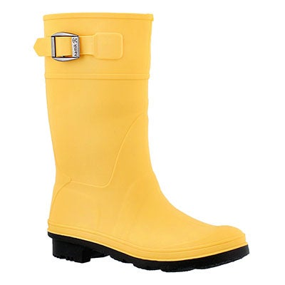 Kamik Girls' RAINDDROPS amber waterproof rain boots