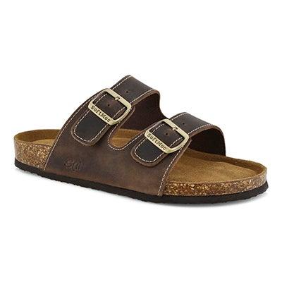 Mns Randitch brn mem foam slide sandal