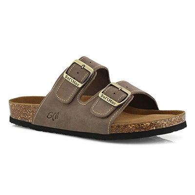 Mns Randitch gry mem foam slide sandal