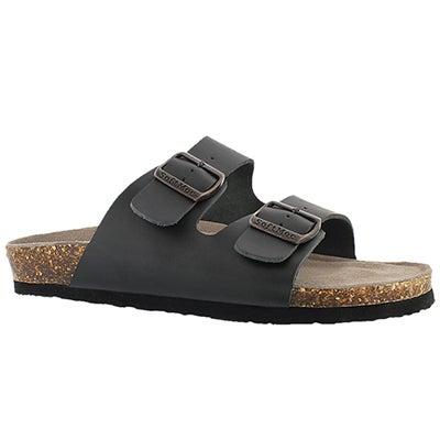 SoftMoc Men's RANDY 3 black memory foam slide sandals