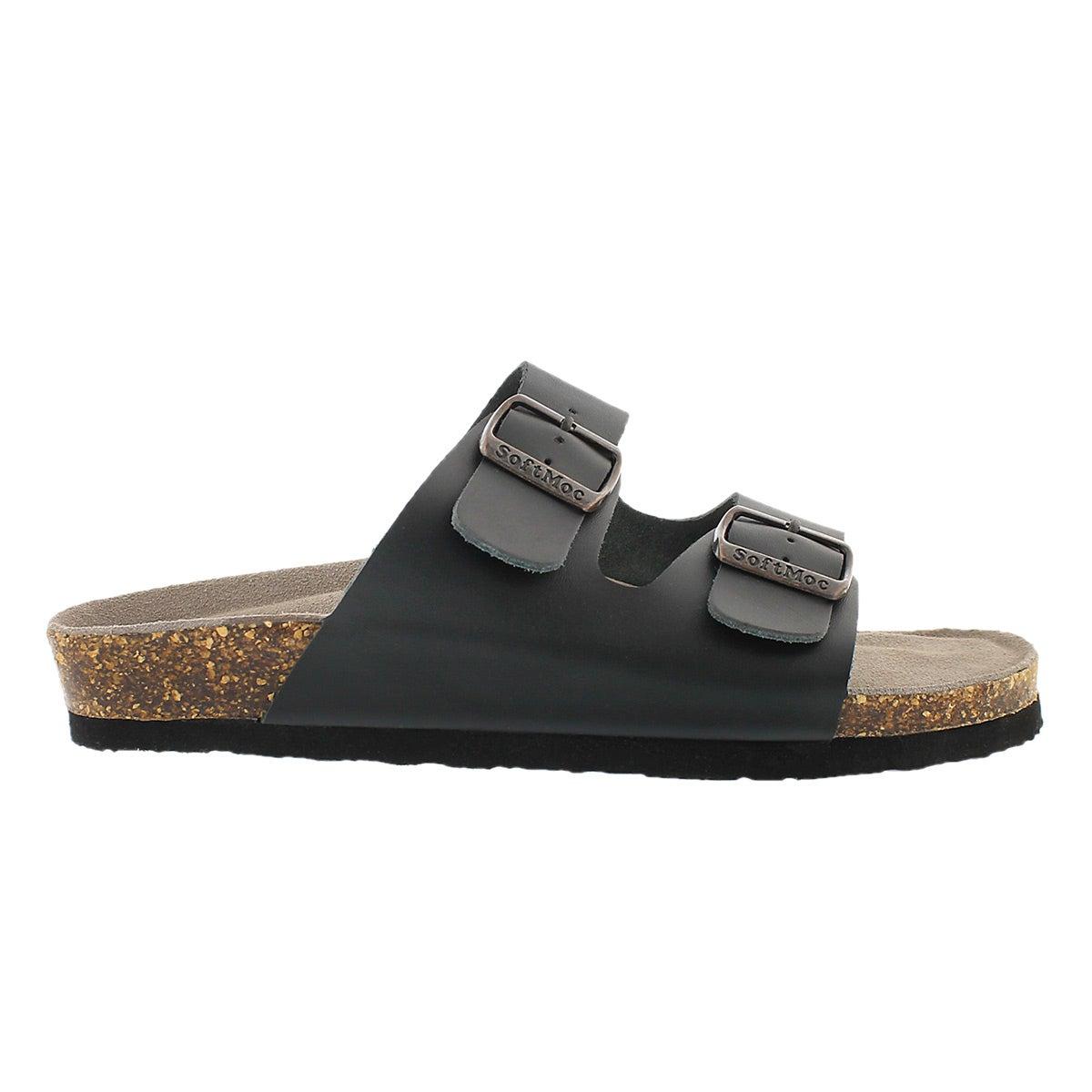 Mns Randy 3 blk memory foam slide sandal