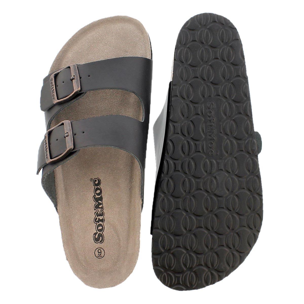 Sandale mousse visc. RANDY 3, noir, hom