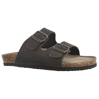 SoftMoc Men's RANDY 3 brown memory slide sandals