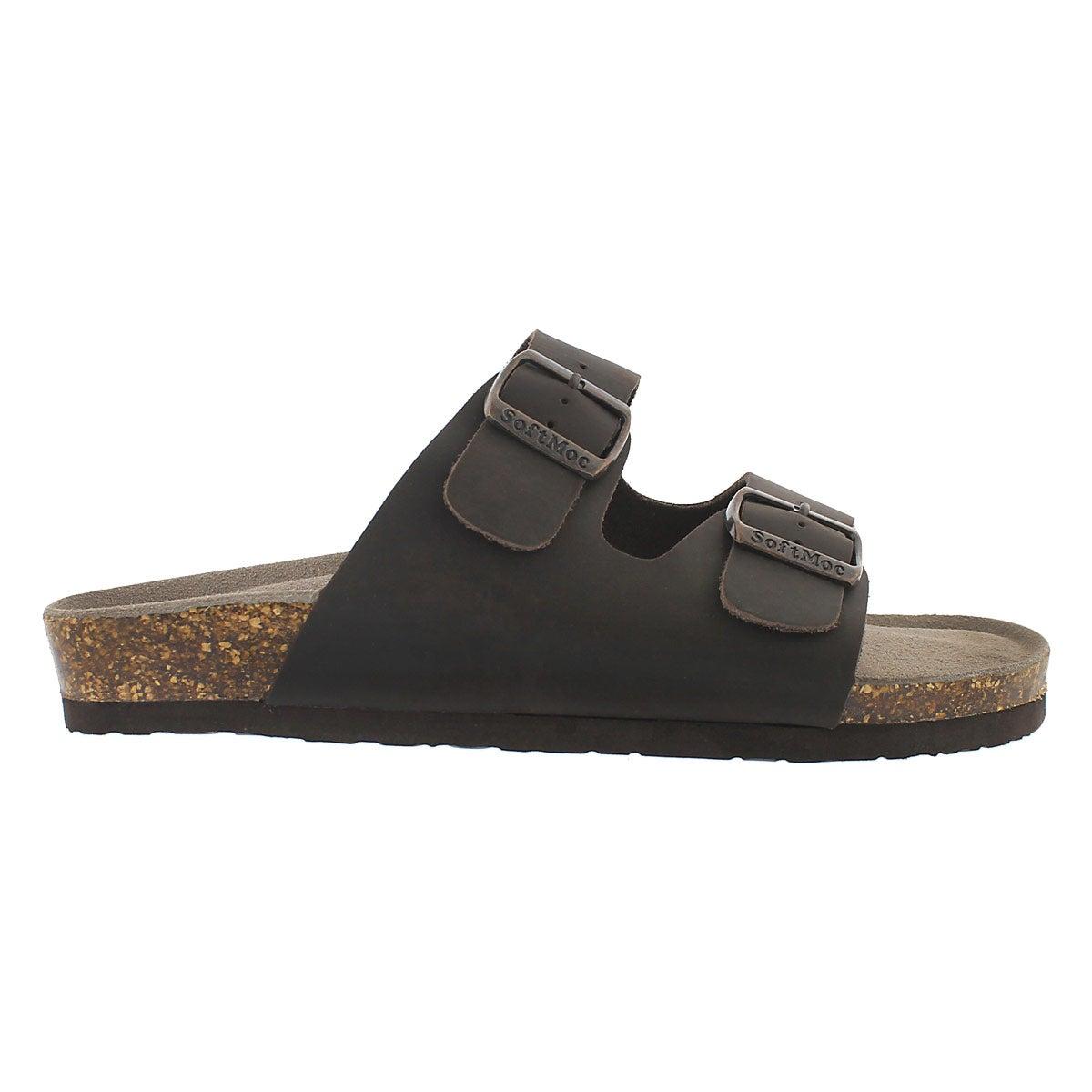 Mns Randy 3 crz brn memory slide sandal
