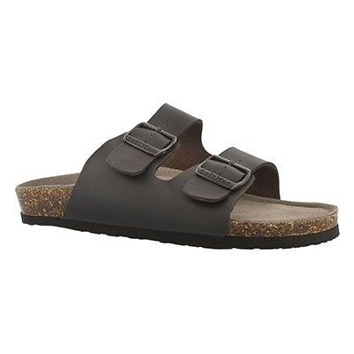 SoftMoc Men's RANDY 3 brown memory foam slide sandals