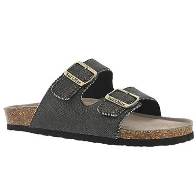 Mns Randy3 cvs bk mem. foam slide sandal