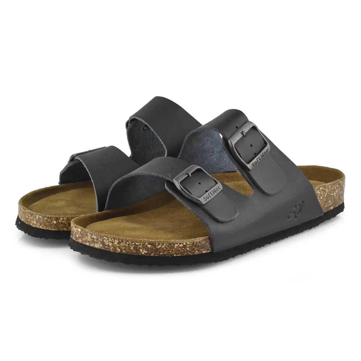 Mns Randy 5 blk memory foam slide sandal