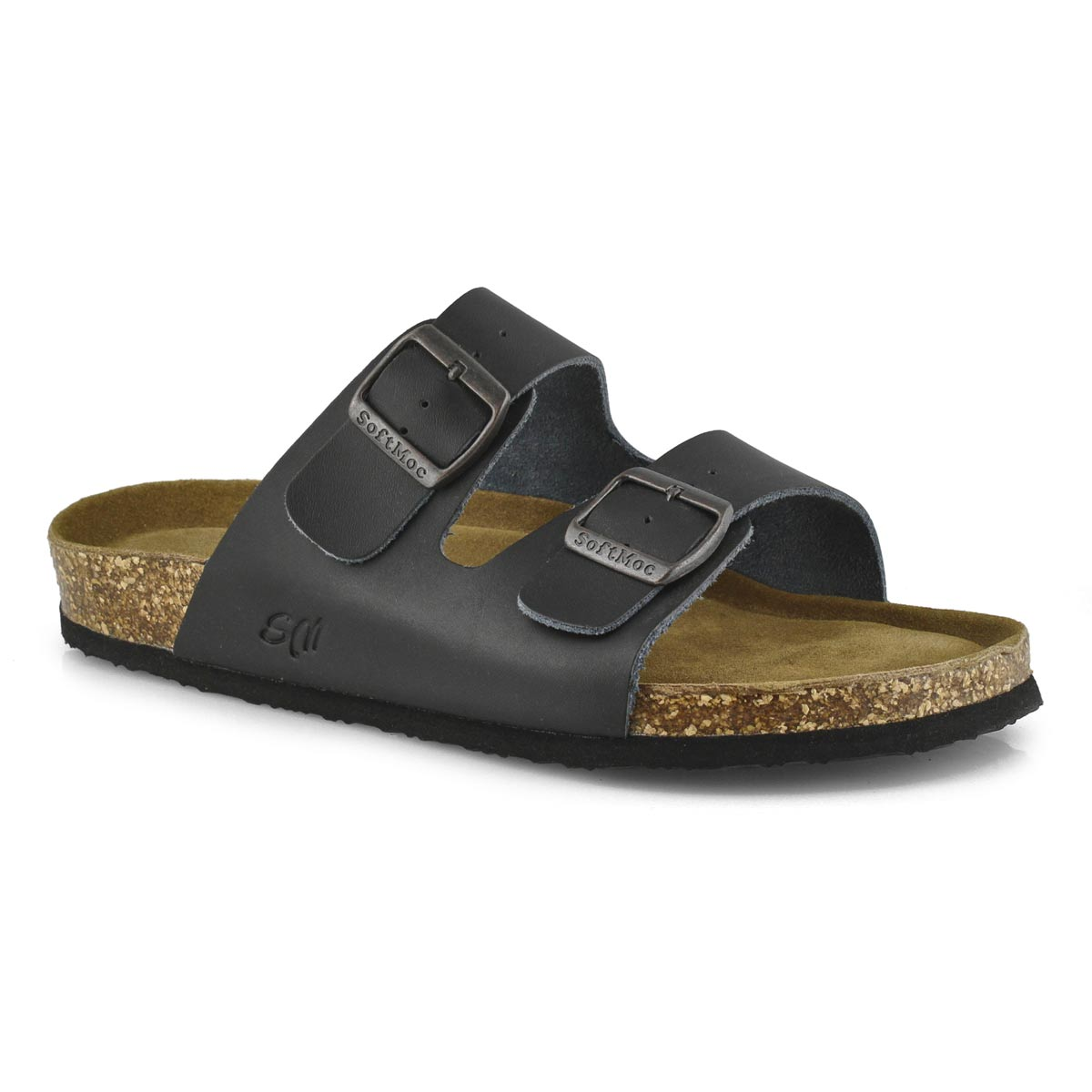 Men's RANDY 5 black memory foam slide sandals