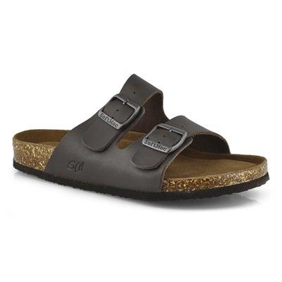 Mns Randy 5 brn memory foam slide sandal