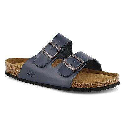 Mns Randy 5 nvy memory foam slide sandal