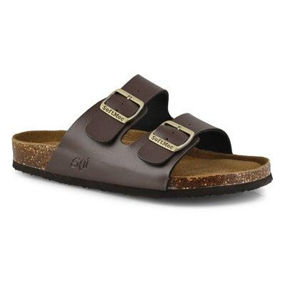 Mns Randy 5 PU brown memory foam sandal