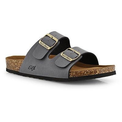Mns Randy 5 PU grey memory foam sandal