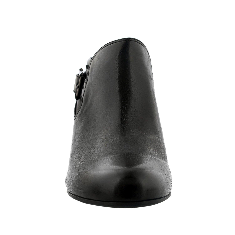 Lds Rapport black buckle dress heel