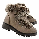 Lds Ravvi taupe lace up casual boot