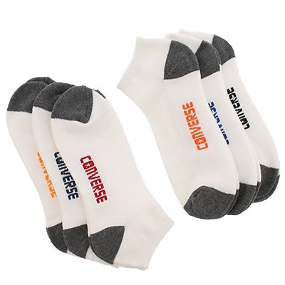 Mns Lo Cut white sock 6 pk