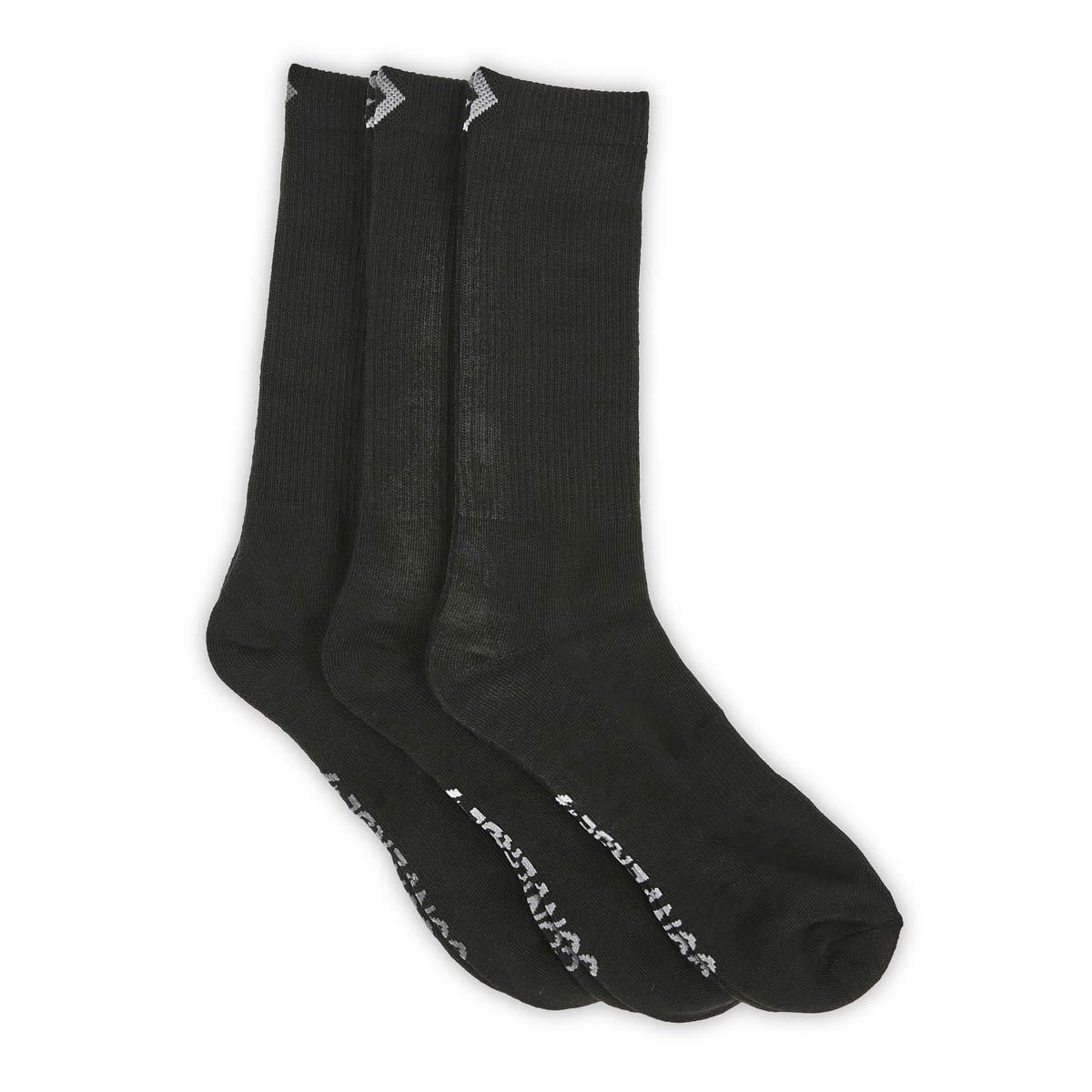 Mns Converse HalfCushionCrew bk sock 3pk