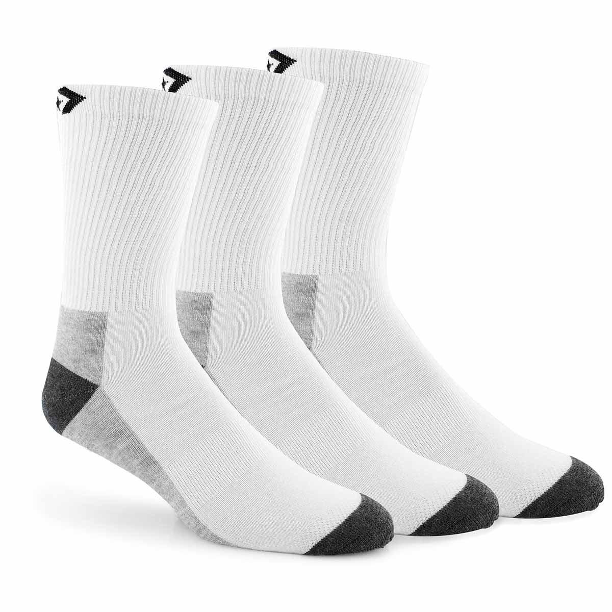 Mns Converse HalfCushionCrew wt sock 3pk