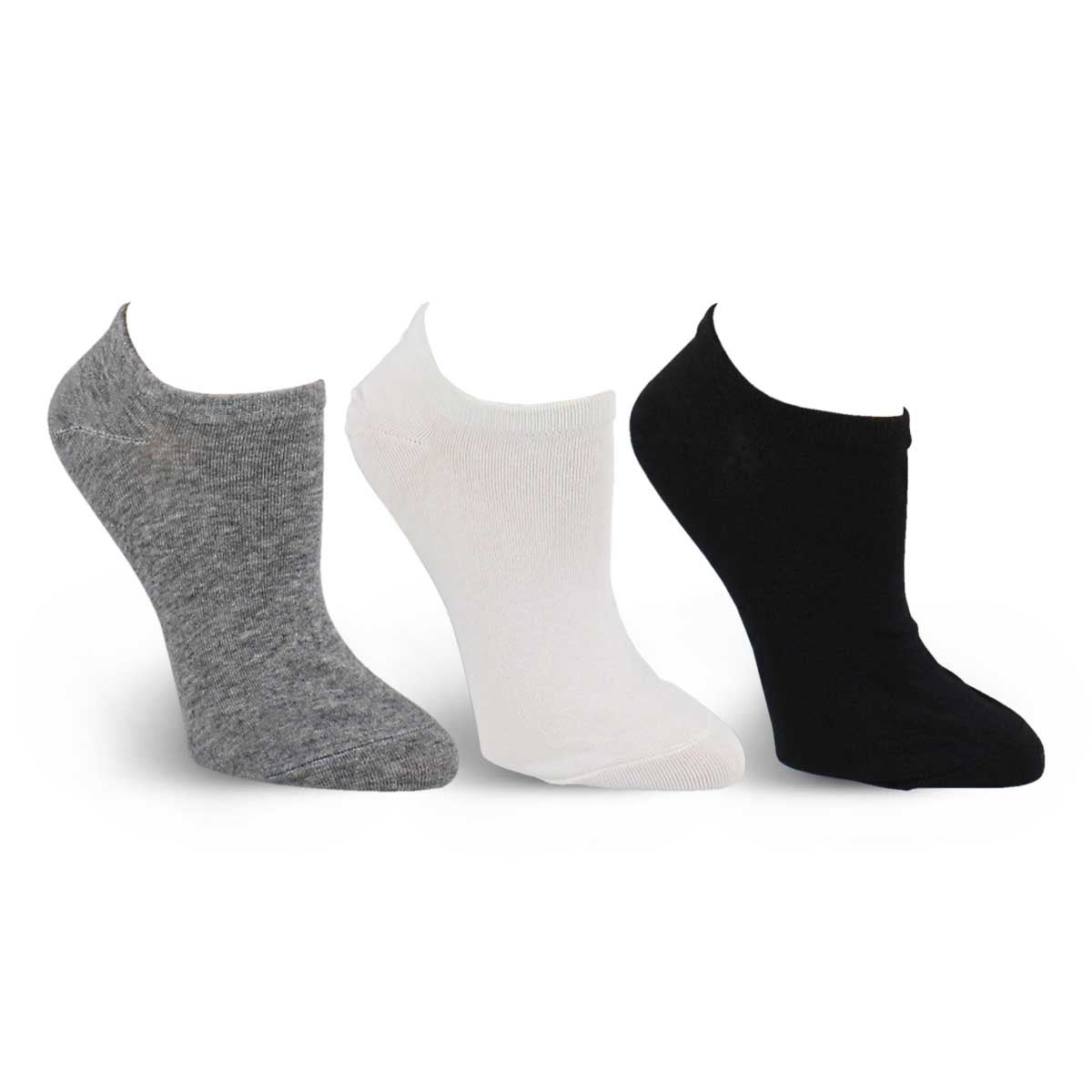 Lds Converse assorted no show sock 3 pk