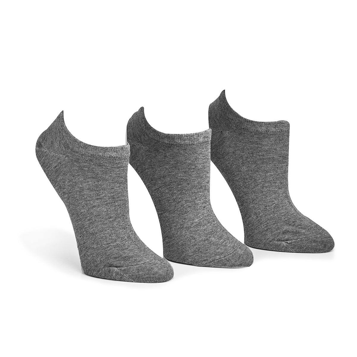 Lds Converse grey no show sock - 3 pk