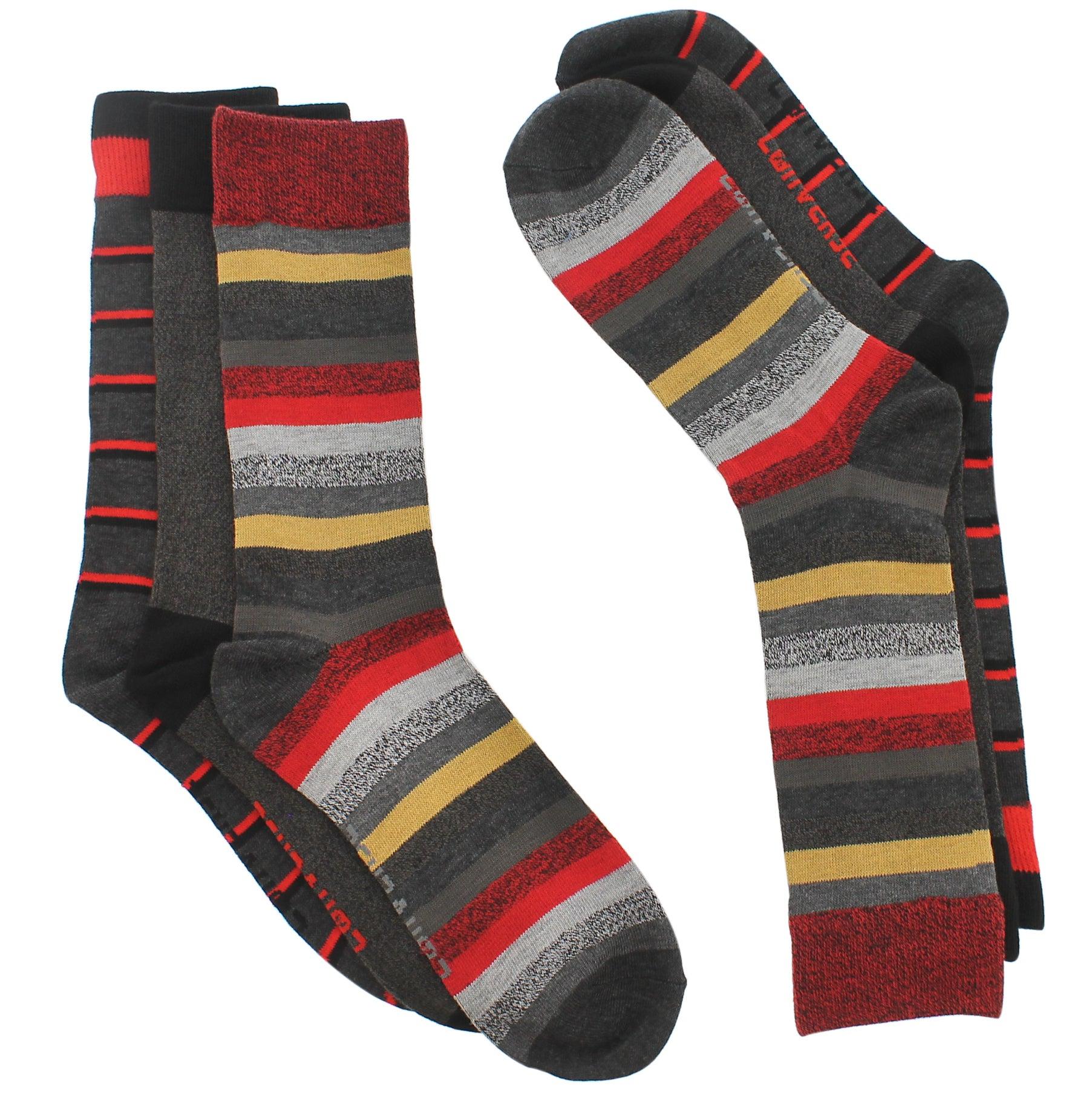 Mns Converse offair stripe crew sock 3pk