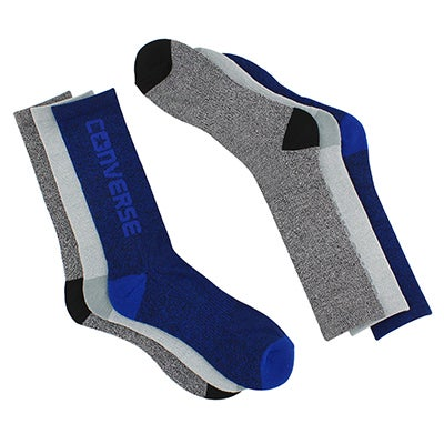 Converse Men's CONVERSE multi marl side crew socks - 3pk