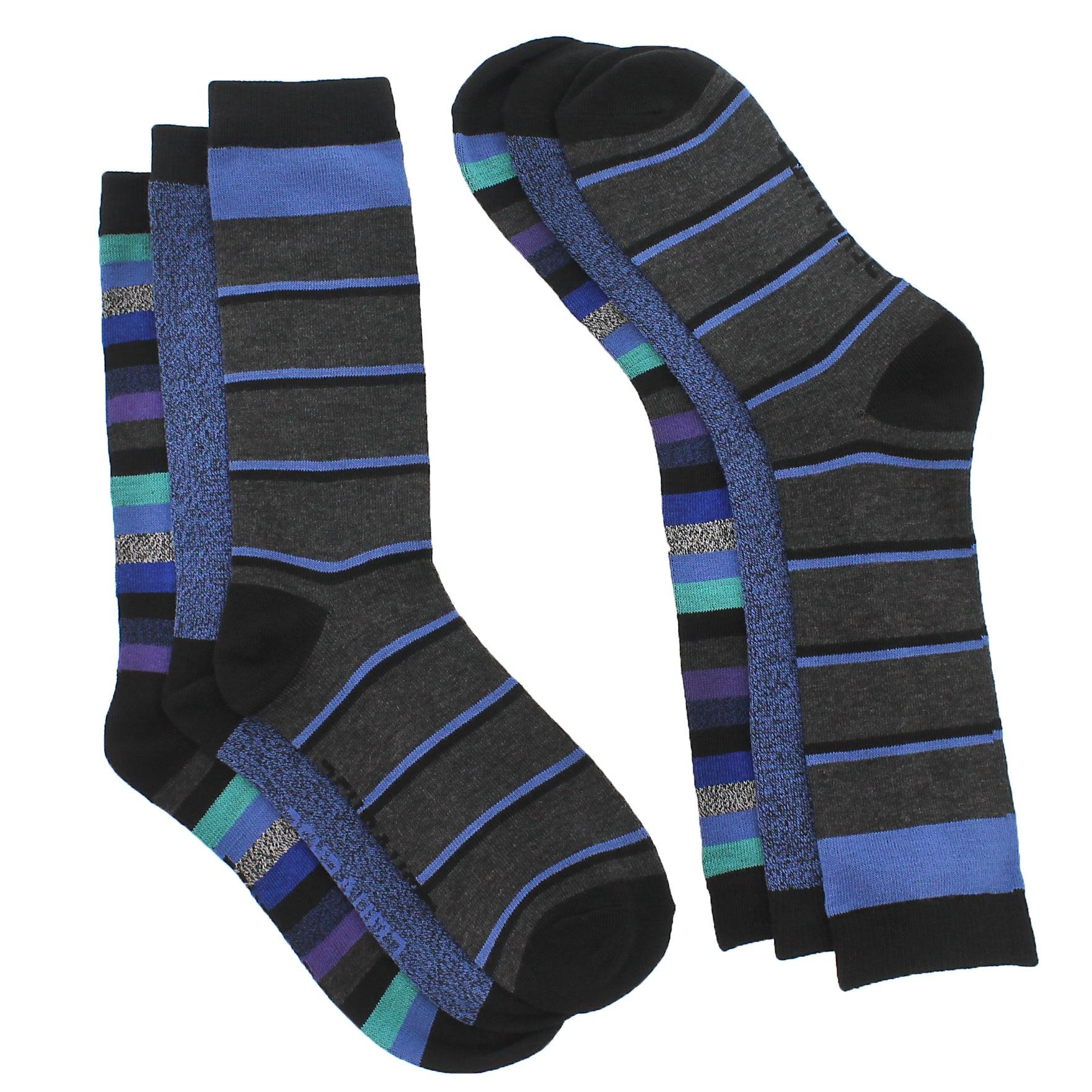Lds Converse  blk offair striped sock