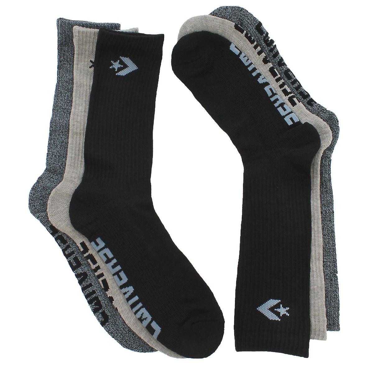 Mns Converse Star Crew mlti sock 3pk